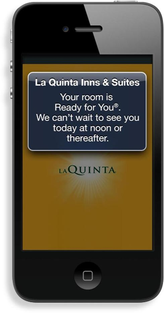 La Quinta Texts Guests: Your Room Is Ready