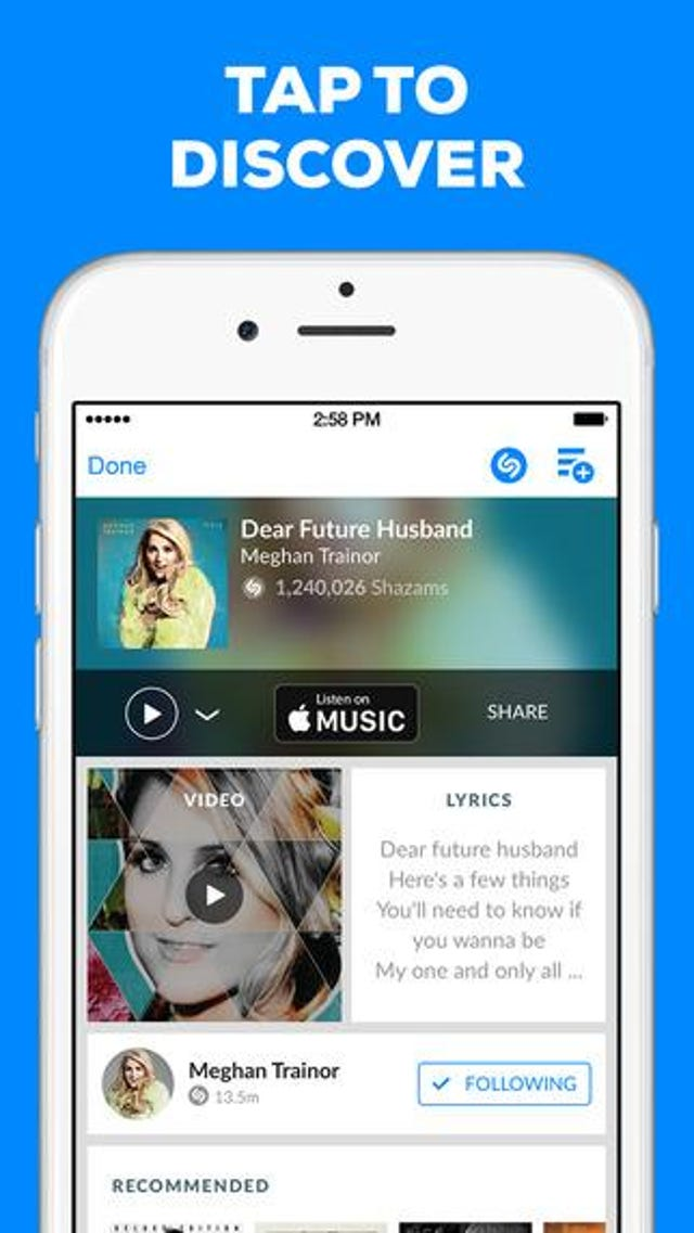 Shazam's Music Finder: Just A Tap Away