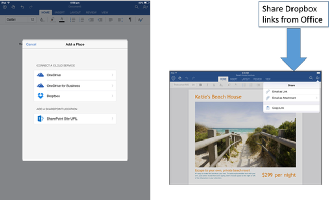 Connect With Dropbox And OneDrive