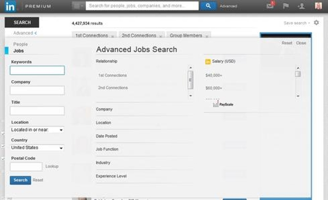 8. Use Advanced Search to find jobs.