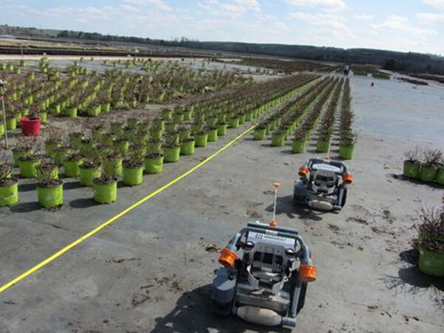 Robots that sortMany warehouses use sorting robots for boxes and the like. But Harvest Automation's industrial robots are des
