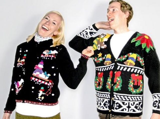 Christmas sweaters Sweaters covered with Santas and snowflakes are an amusing Christmas staple. But they're too goofy for a