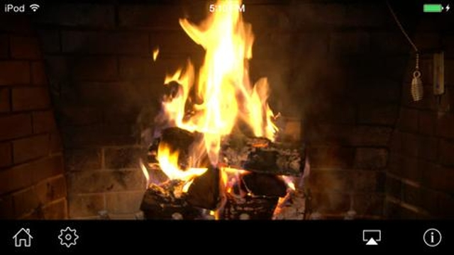Warm Up Next To A Very Cozy Fireplace In HD ($.99)