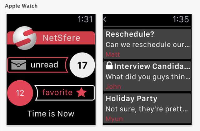 NetSfere For Apple Watch