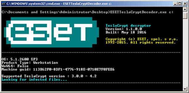 5. Teslacrypt Decryptor