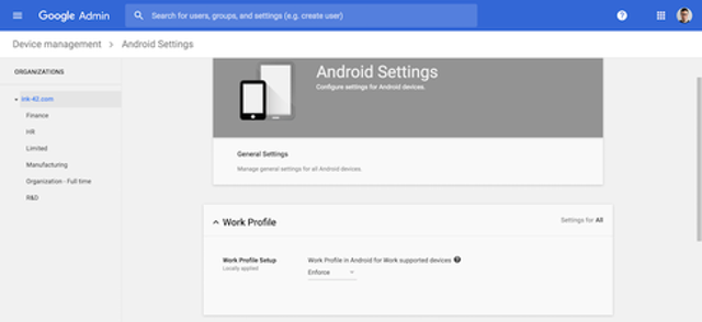 Adopt Android Work Profiles