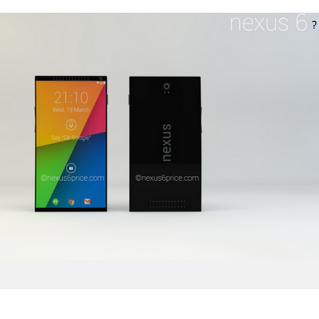 Nexus 6 phoneSome recent Web scuttlebutt claims the Nexus 6 smartphone could make its public debut at Google I/O. Other rumor