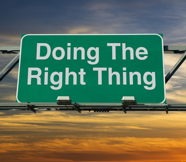 Take The High Road Toward Honesty And Integrity