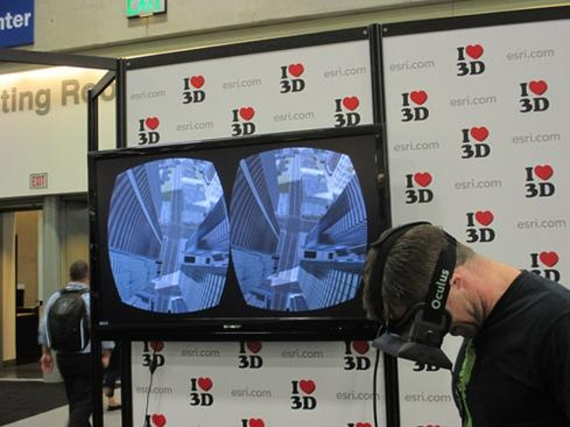Using 3D cityscapes to prep for emergenciesAbove, Simon Wellington of Canberra, Australia, enjoys a 3D view of a simulated ci