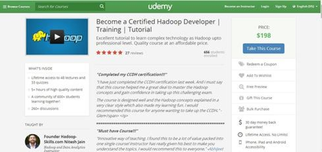 Become A Certified Hadoop Developer