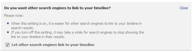 Opt out of appearing in Google searchWhen you sign up for a Facebook account, it allows search engines to index your profile.
