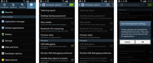 Android: Disable Diagnostics AND Dev Features