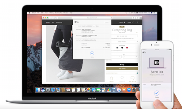macOS Sierra: Apple Pay