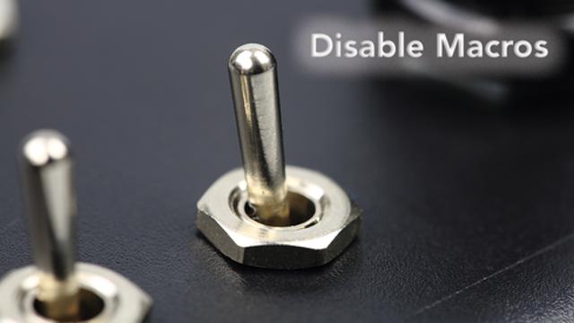 Disable macros
