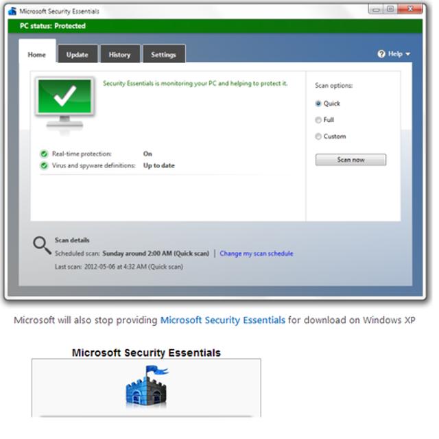 Sayonara, Security Essentials for XP