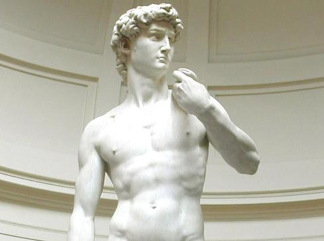 """Commissioning Michelangelo wannabe to sculpt 17-foot marble """"Larry"""" for Malibu shopping mall."""