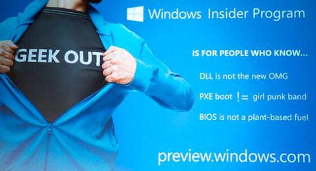Windows Insider lets you see Microsoft's rough edges.