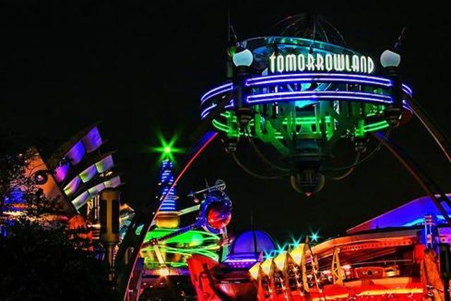 Entrance To Disneyworld Tomorrowland Present