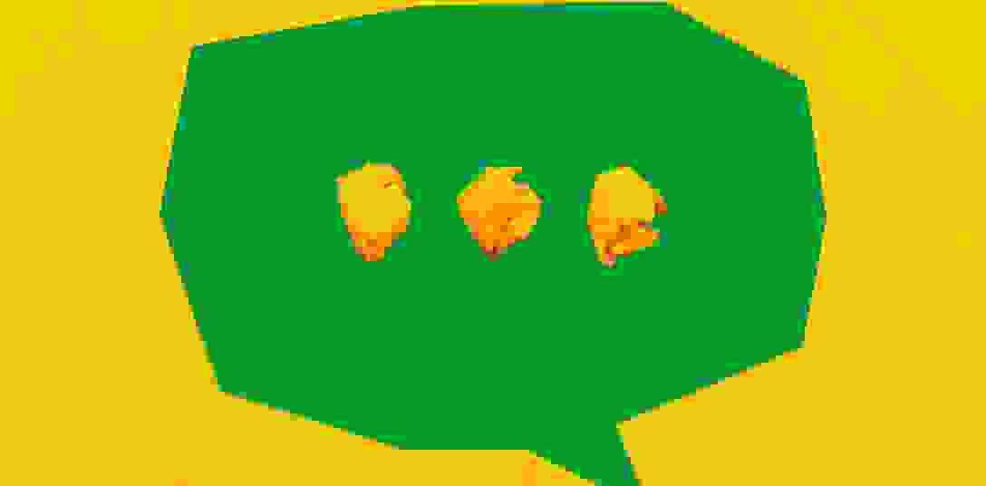 Speech bubble with three dots