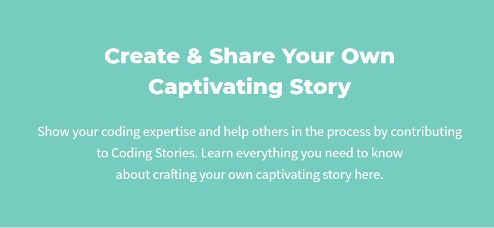 Mission of the coding stories website