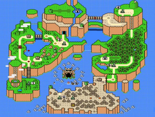 Super Mario themed UI