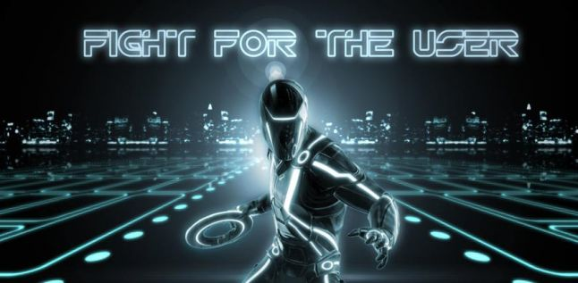 Rinzler from Tron - fight for the user