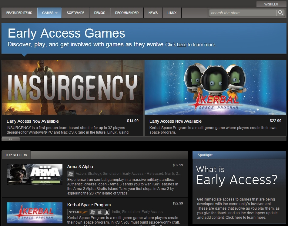 Insurgency currently available in the 'Early Access' section of Steam