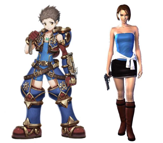 Left: Rex (Xenoblade Chronicles 2)   Right: Jill Valentine (Resident Evil 3)