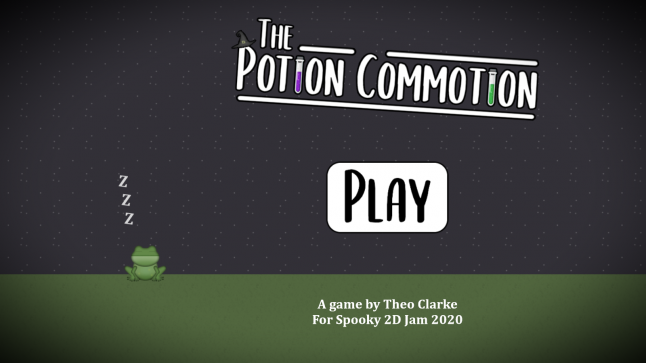 The Potion Commotion, created in Construct in 48 hours for Spooky 2D Jam 2020 in October