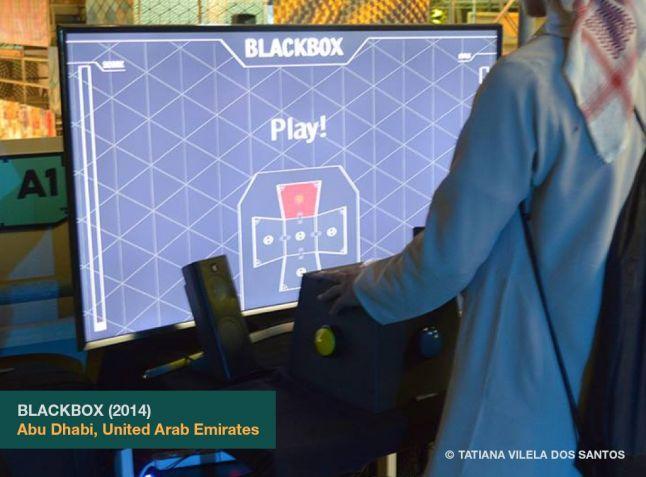 Blackbox as exhibited at A MAZE. Pop Up in Abu Dhabi, United Arab Emirates