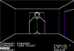 Akalabeth (1980): Kill this thief quickly, or he'll swipe your gear!