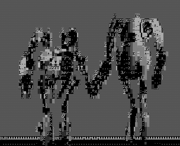 Portal 2 robots, ANSI-style!