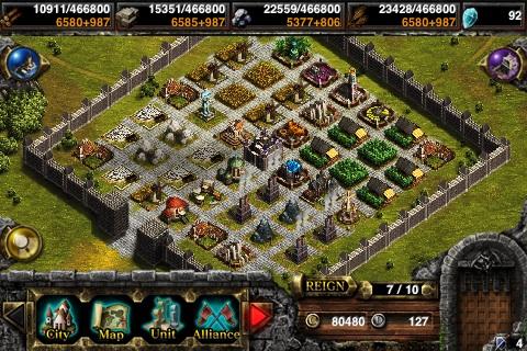Kingdom Conquest City Screen
