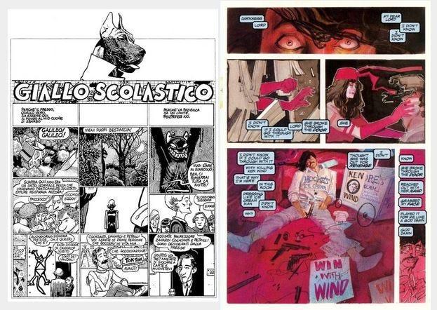 Comic layouts.