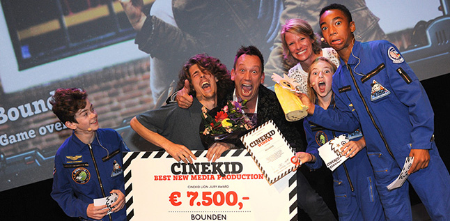 Bounden won the Cinekid award for €7,000! (Also, Menno Deen: we love you forever!!!)