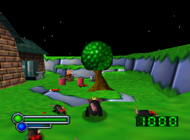 Rats will follow the king rat and attack on command. This particular level was axed from the PlayStation port.
