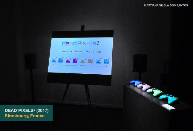 Dead Pixels� as exhibited at the Shadok in Strasbourg, France