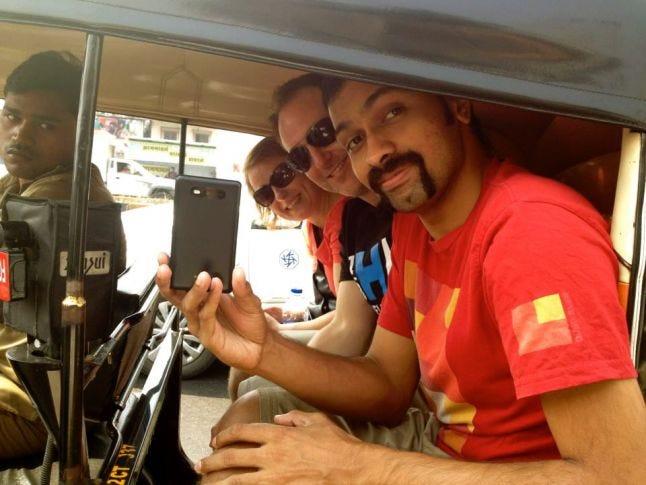 Rickshaw Double-selfie