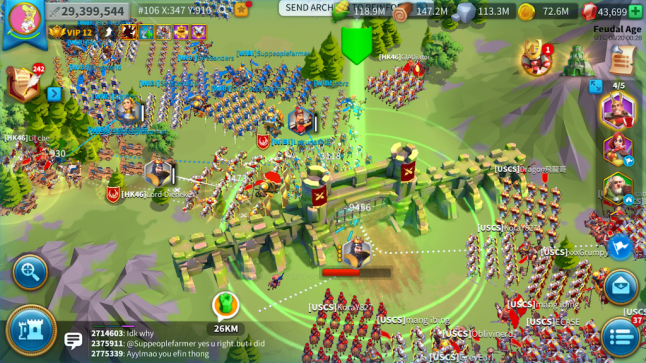 Multiple advances in the core gameplay of Rise of Kingdoms