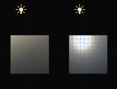 vertex lighting density