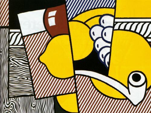 Cubist still life by roy lichtenstein