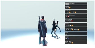 A depiction of melee combat in an empty space.