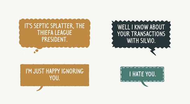 Football Drama speech balloons layouts.