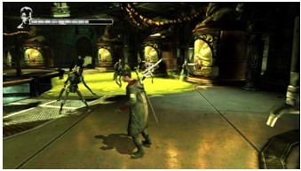 An image of an environmental hazard in a combat arena.