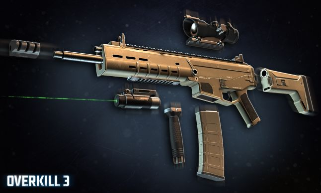 Overkill 3 - ACR rifle with attachments