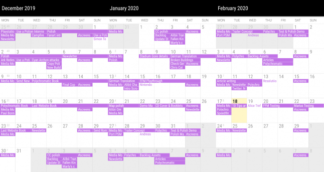 This seems to be a normal gamedev's schedule