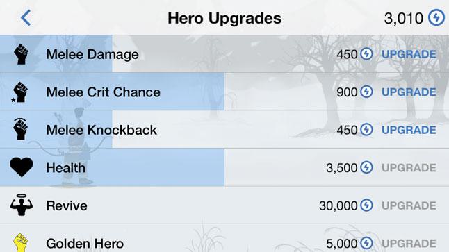 Yukon Warrior Upgrade UI