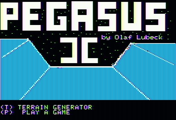 Pegasus II Apple II Title screen
