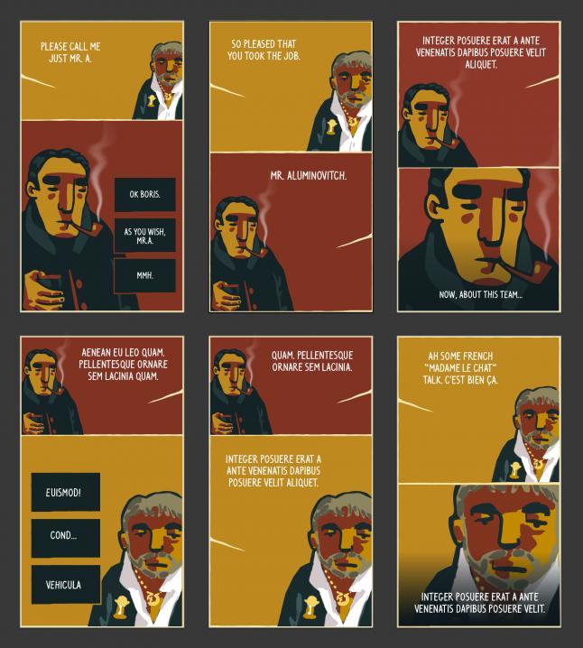 New Football Drama alternative dialogue layouts