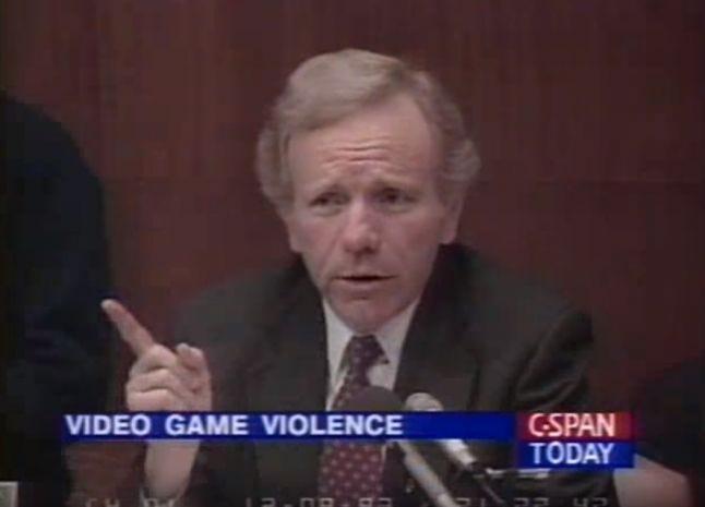 Senator Lieberman at 1993 Video Game Violence meeting